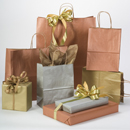 Matte Metallics Shopping Bags