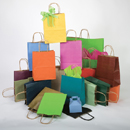 Matte Shadowstripe Shopping Bags